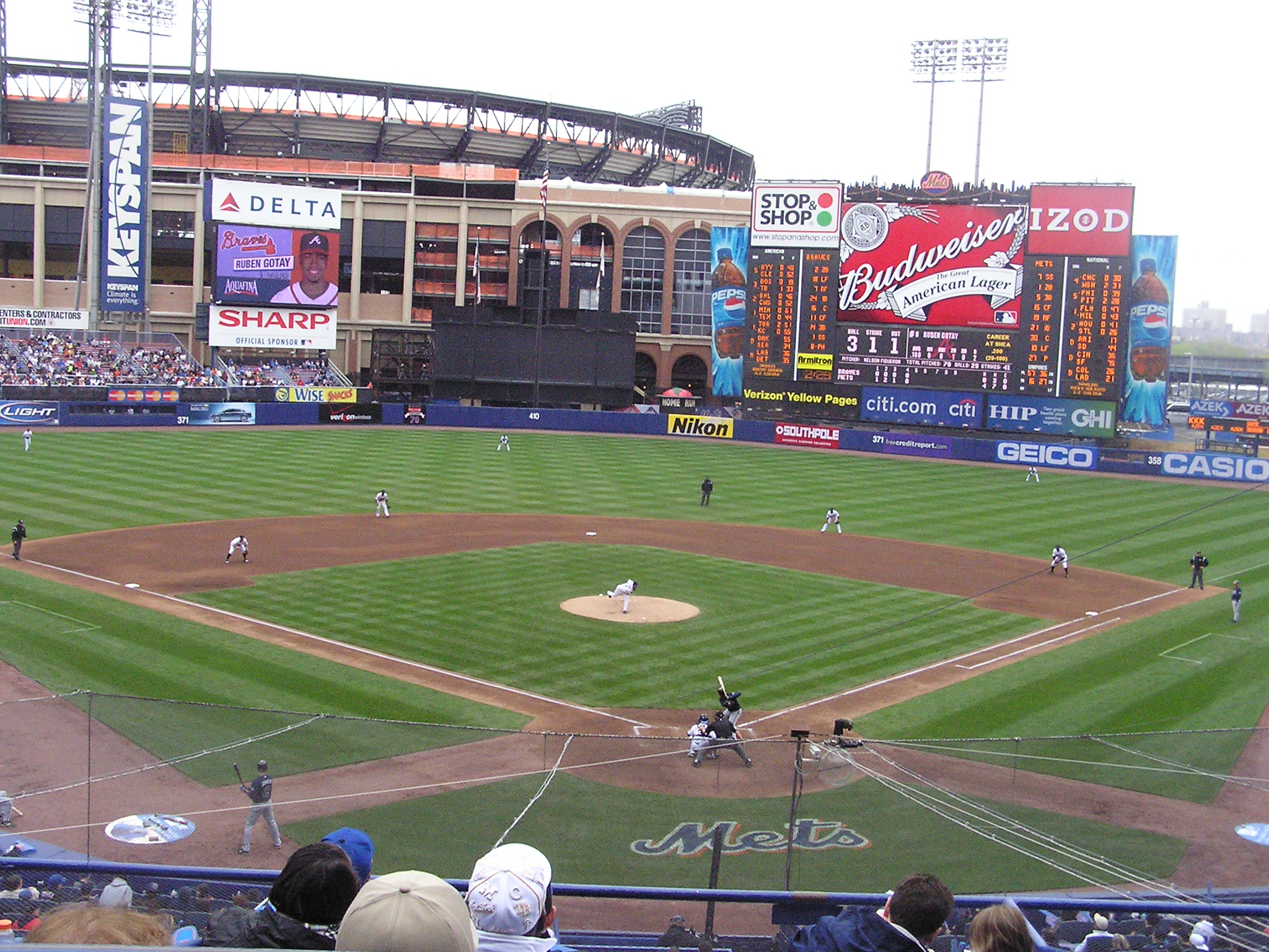 Citi Field Looming over Shea - Flushing, NY
