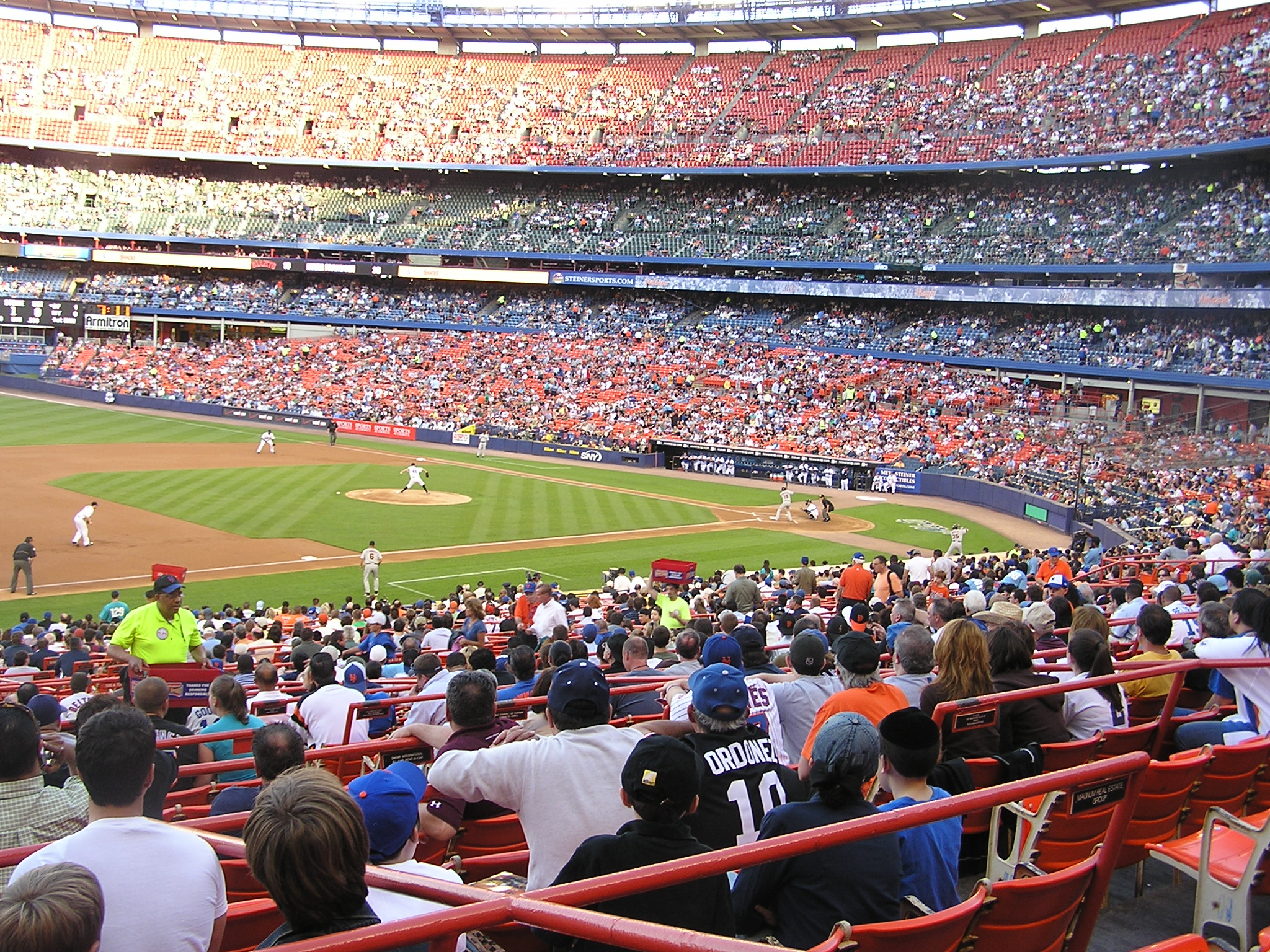 Shea Stadium from behind 3rd base - Flushing, NY